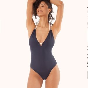 Lively x Madewell Navy One piece swimsuit Small